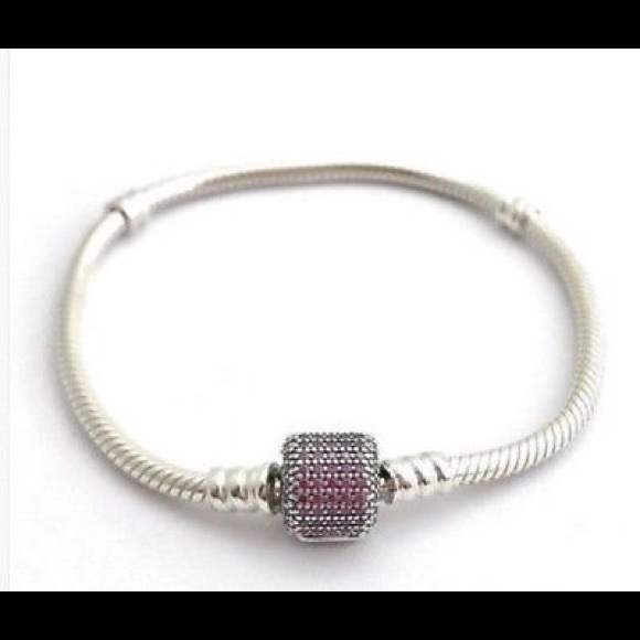 58b02000f Pandora Jewelry | New Cz Pave Signature Clasp Bracelet | Poshmark